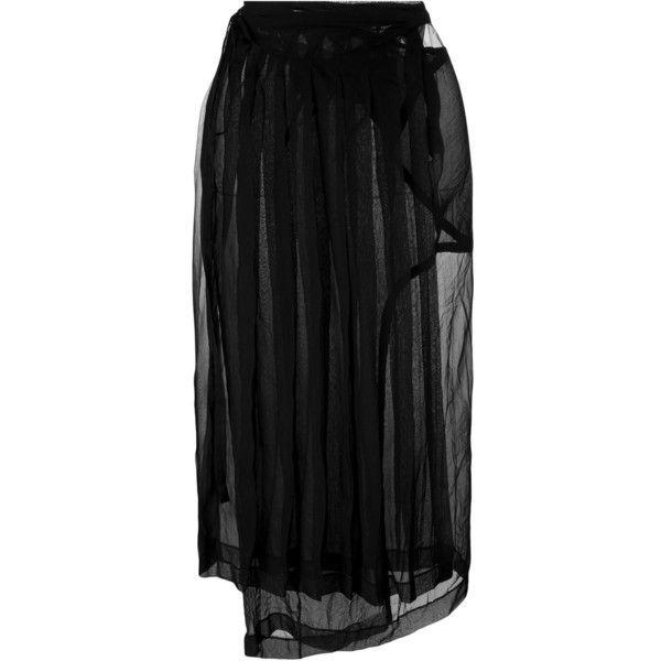 sheer panel pleated skirt - Black Maison Martin Margiela Free Shipping Comfortable Outlet Big Discount sggvEYJMxK