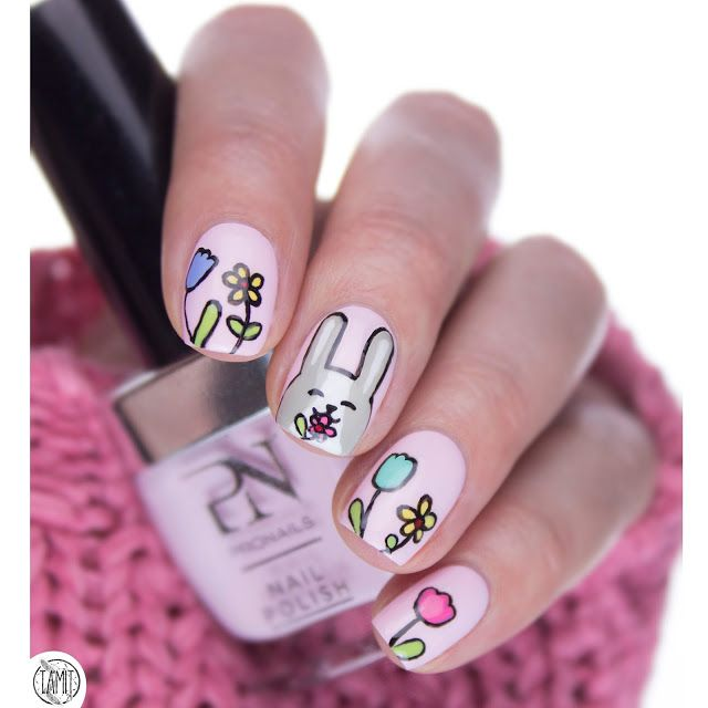 Funny bunny nailart. | HAPPY EASTER!