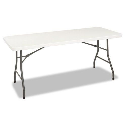 Cosco 6 Foot Resin Folding Table 72w X 30d X 29 1 4h White