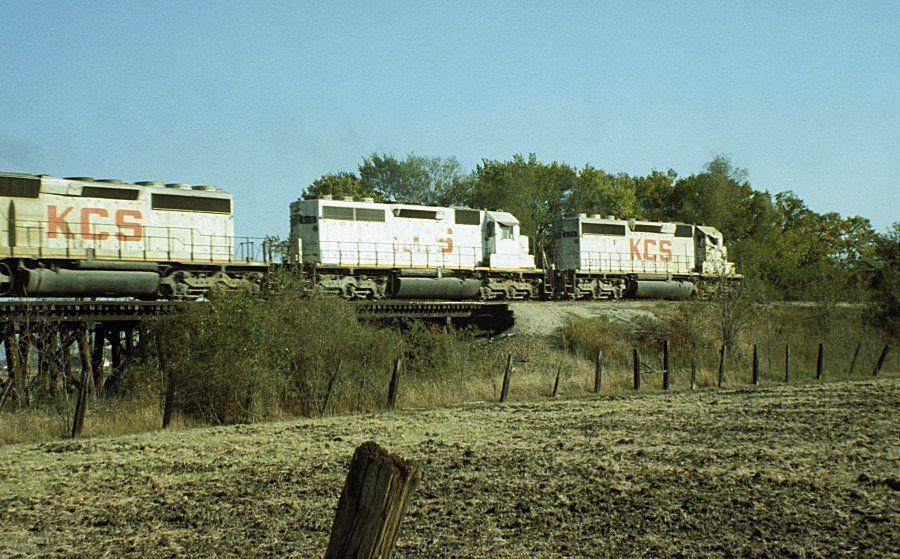 KCS Train 3 north of Texarkana Southern railways