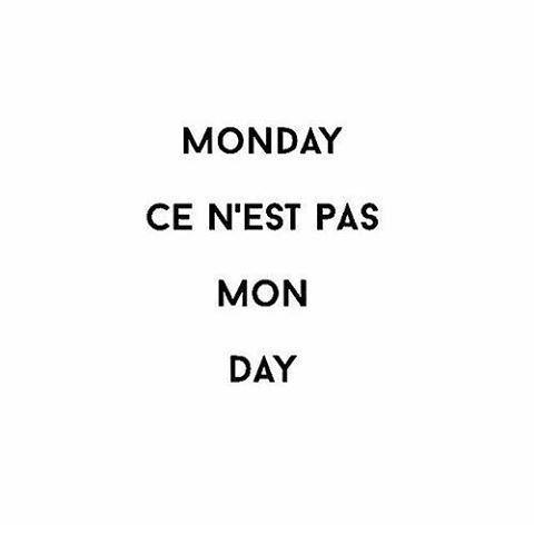 Monday / segunda
