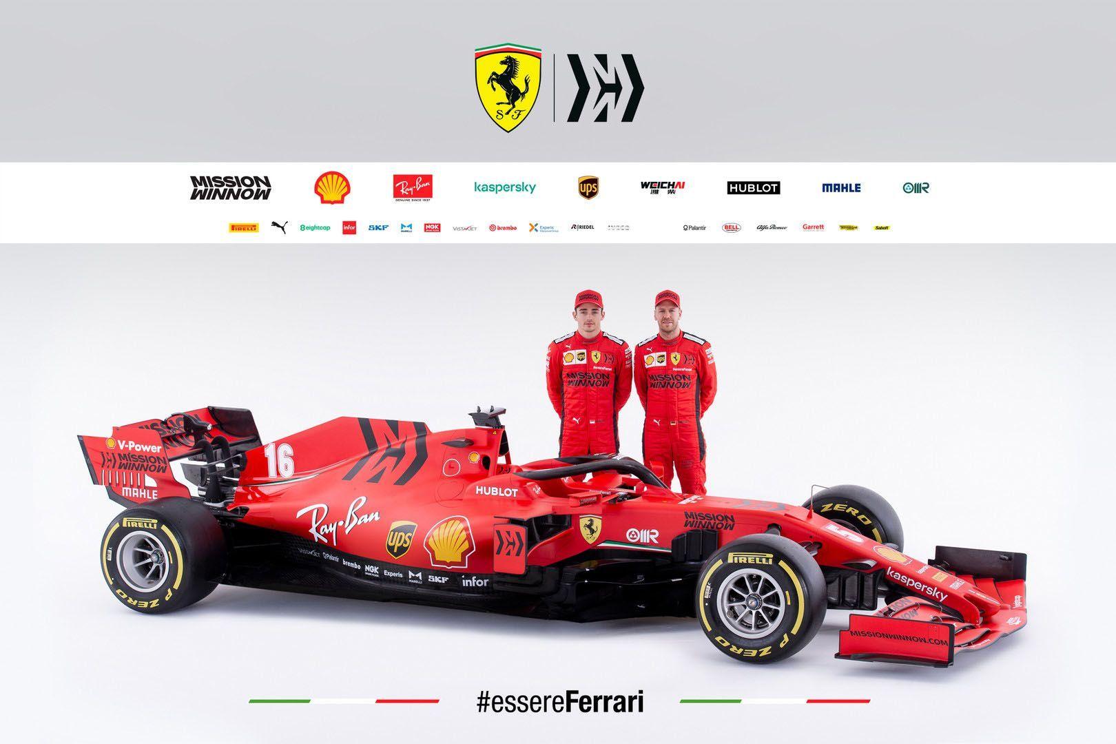 Ferrari Unveils 2019 Sf90 Formula One Car And It S Matte Red Carscoops Ferrari F1 Ferrari Racing
