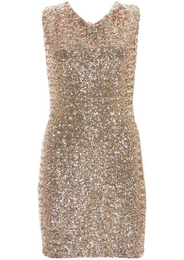 Gold sequin cross back dress