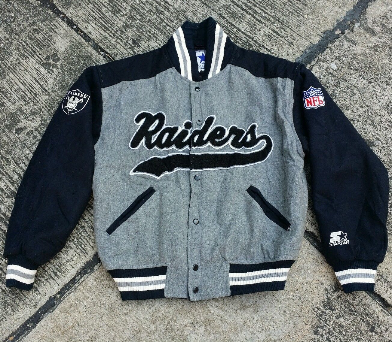 Geschäft neues Design gut aussehen Schuhe verkaufen Vintage Starter Oakland Raiders Deadstock Throwback Wool ...