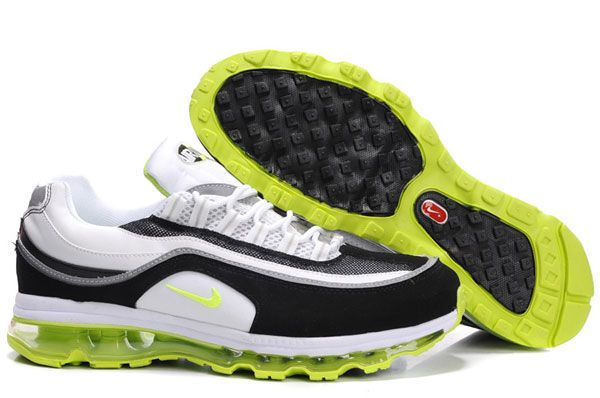 97fdf9da0717 397252-102 Nike Air Max 24-7 White Bright Kiwi Black Metallic Silver  AMFM0555