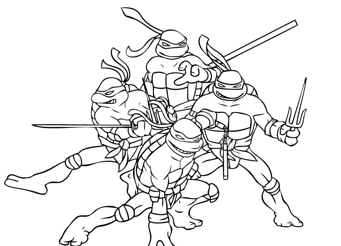 The Ninja Turtles Coloring Pages | Chase\'s Birthday Party | Pinterest