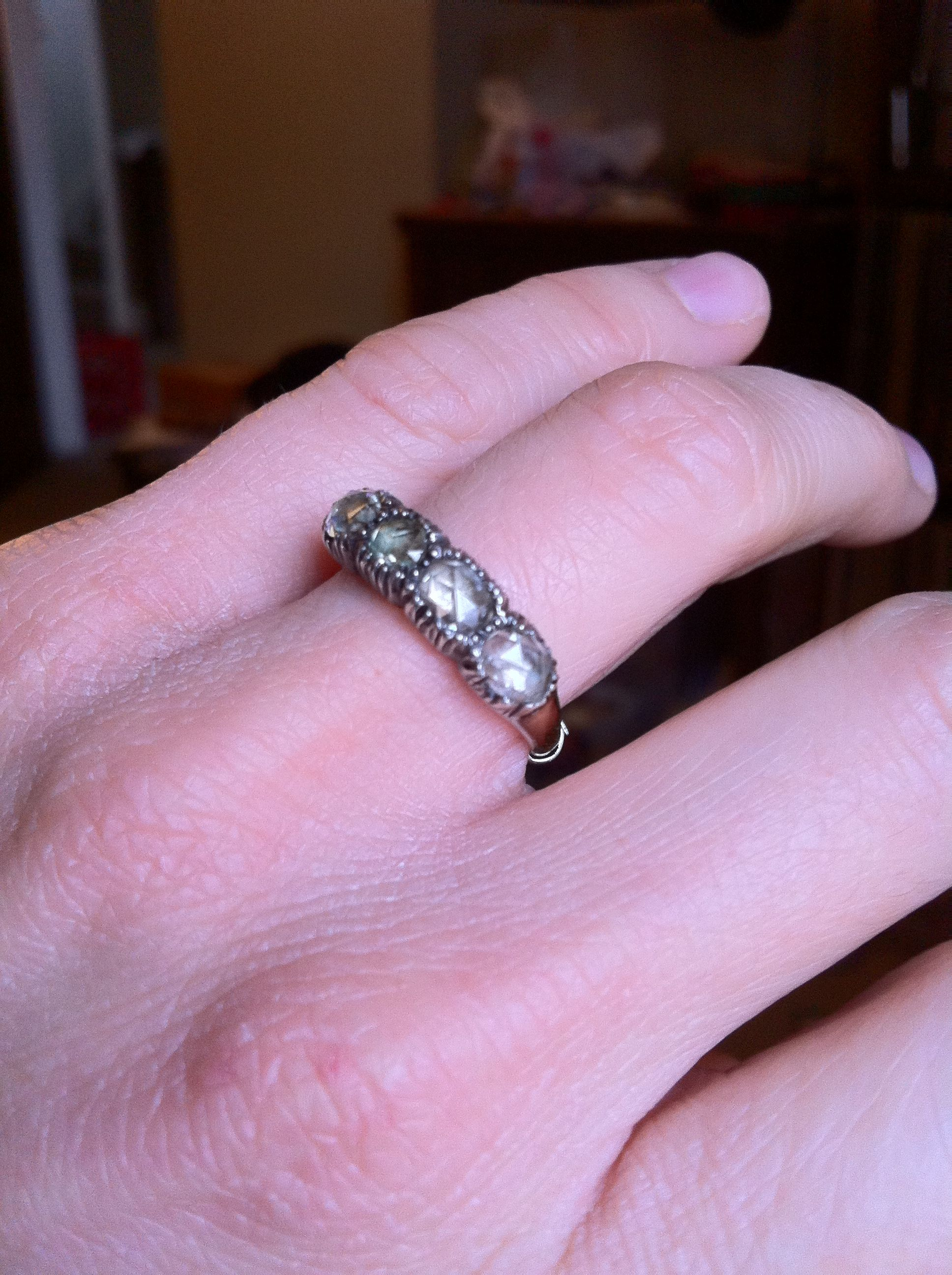 Here it is, my Georgian engagement ring! It hails from England and ...