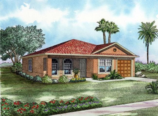 Florida One Story House Designs | Floor Plans for House Plan #ALP ...