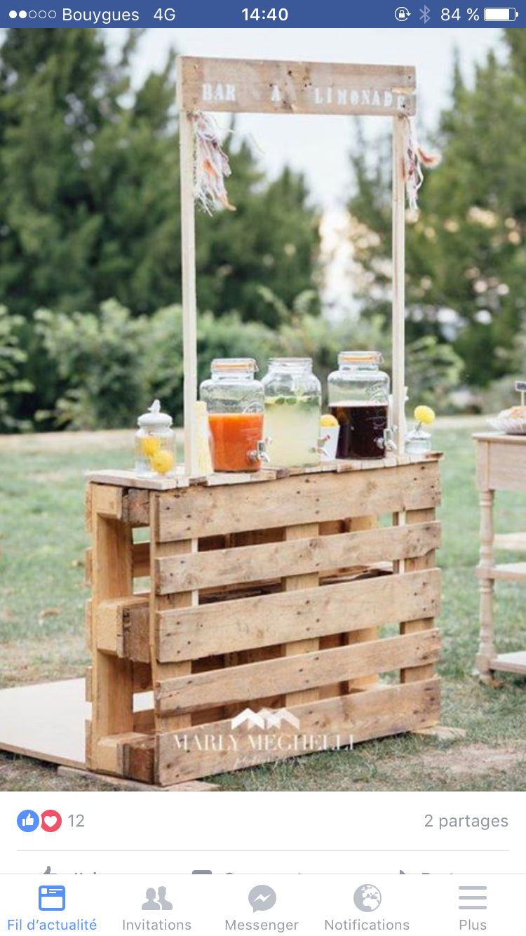 Drink Station Made With Wooden Pallets Easy Reception