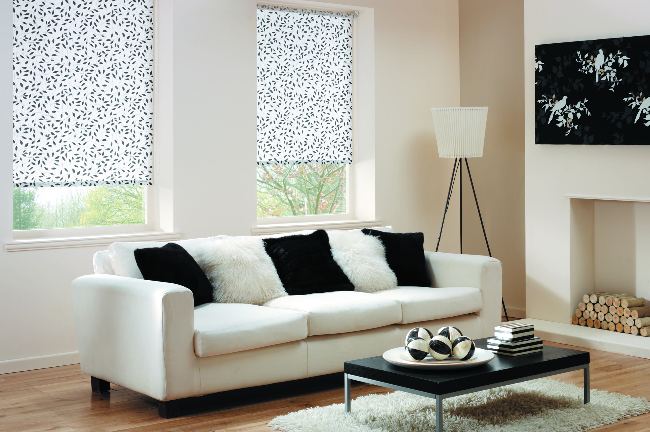 Living Room Blinds Roller Blinds Chatsworth Black Our Blinds And Shutters