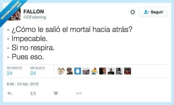 El mortal lo clavo por @ElFalloning   Gracias a http://www.vistoenlasredes.com/   Si quieres leer la noticia completa visita: http://www.estoy-aburrido.com/el-mortal-lo-clavo-por-elfalloning/