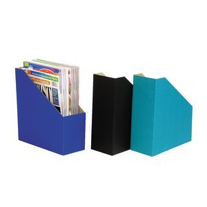 Marbig Magazine Holder Assorted Colours 3 Pack