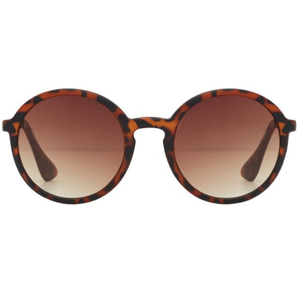 Rounded Sunglasses (€19) ❤ liked on Polyvore featuring accessories, eyewear, sunglasses, glasses, tortoise shell glasses, tortoise sunglasses, tortoise shell sunglasses, round eyewear and tortoiseshell glasses