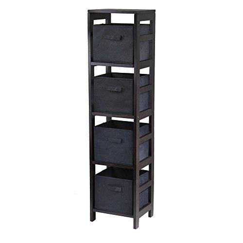 best service abd63 1e9d1 Winsome Wood 4-Shelf Narrow Shelving Unit   Racks - Shelves ...