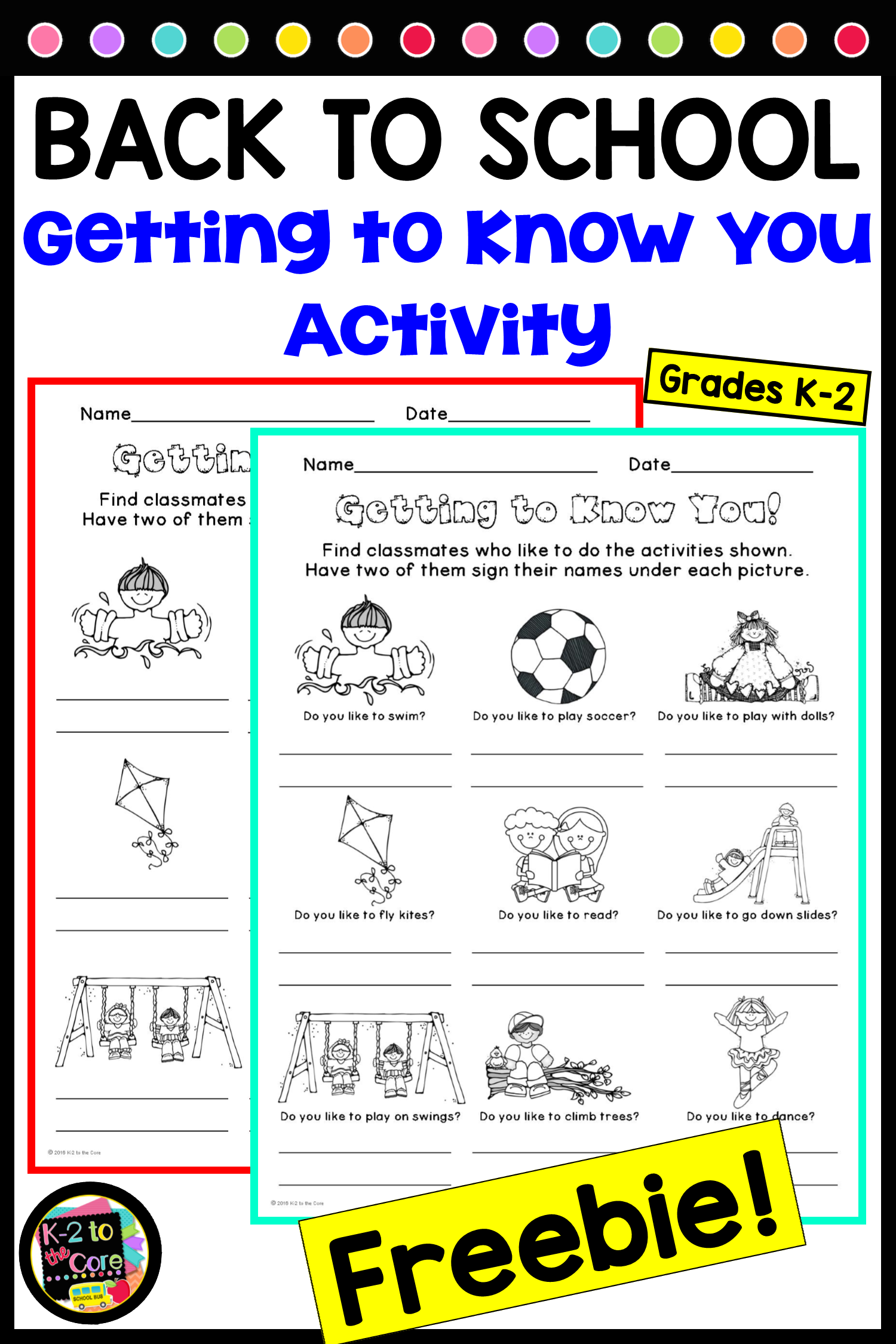 This Differentiated Getting To Know You Activity Is Great