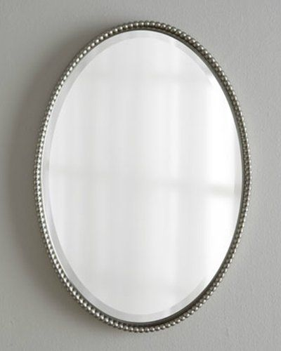 Silver Beaded Edge Oval Wall Mirror 32 Home Decor Source Https