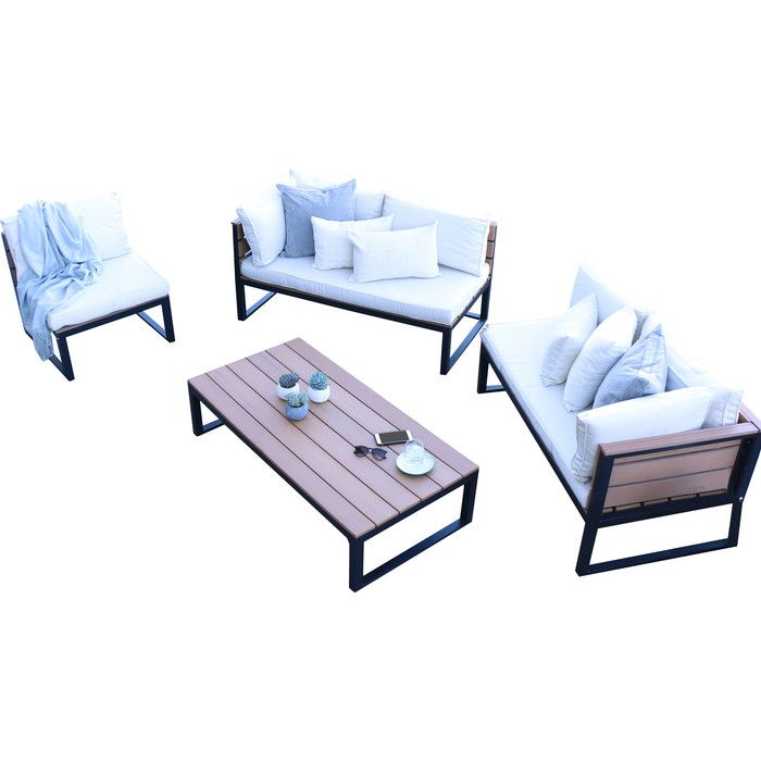 4 Piece Sectional Set with Cushions | Lofts, Modern outdoor ...