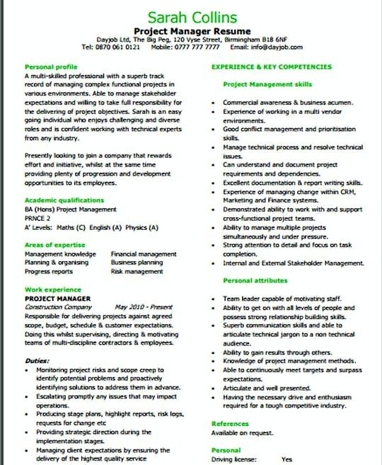 Entry Level It Project Manager Resume Template  It Infrastructure