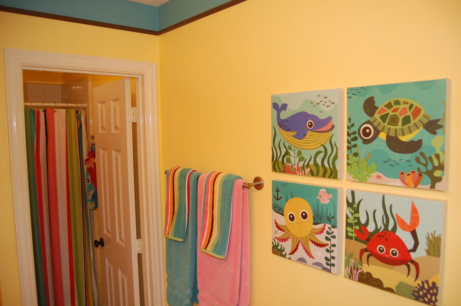 Cute Kids Bathroom | ... El Bano De Los Ninos Cute Kids Bathroom Decor