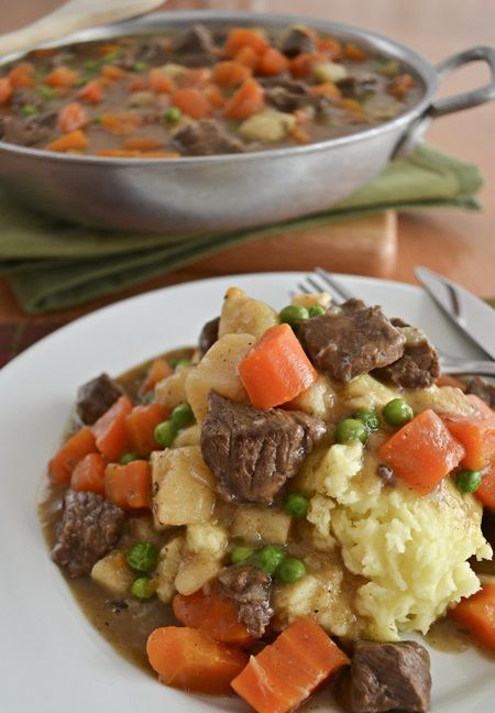 Irish Beef Stew with Mashed Potatoes