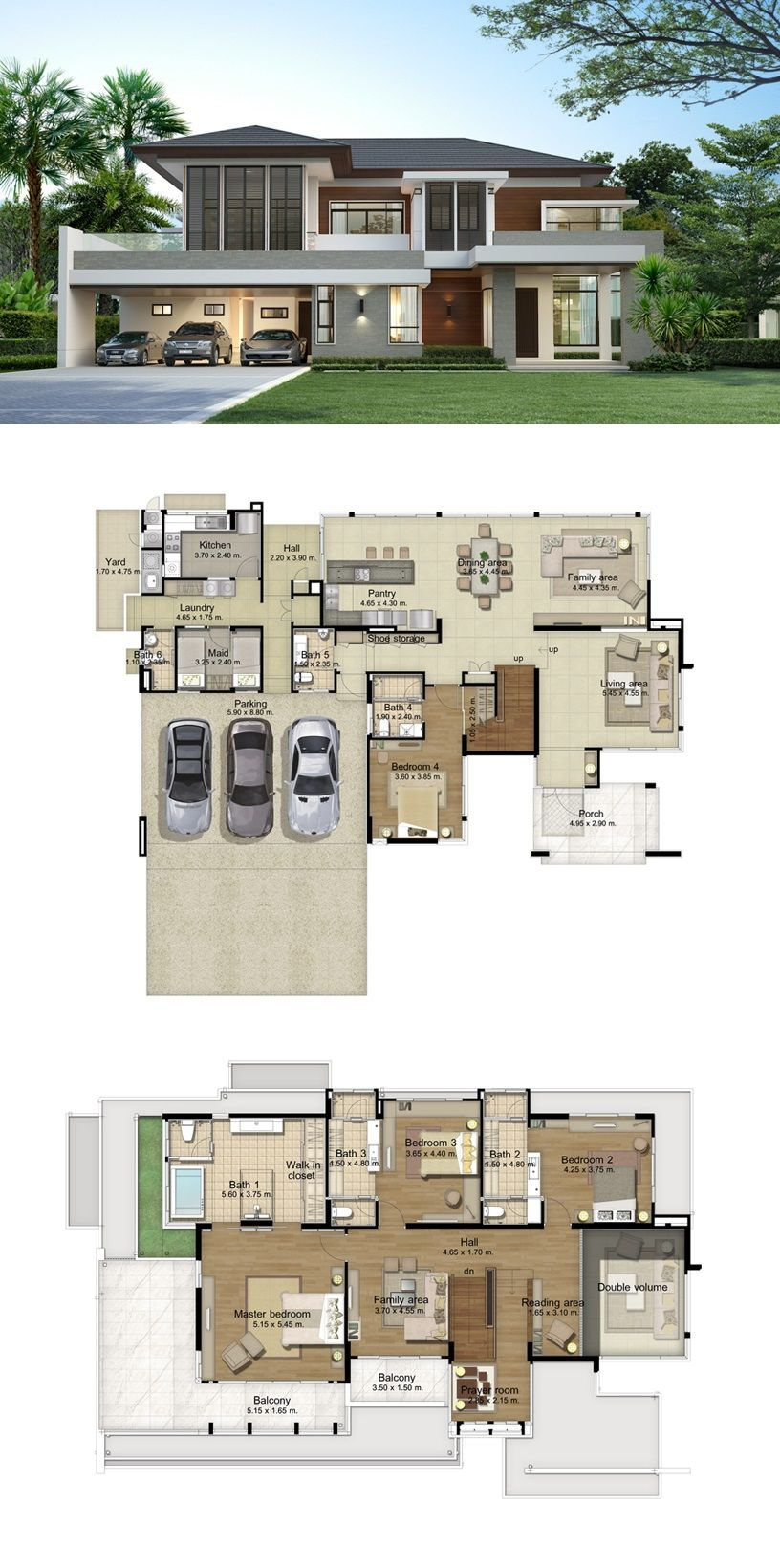 Land And Houses Big Modern Houses House Layout Plans Modern House Floor Plans