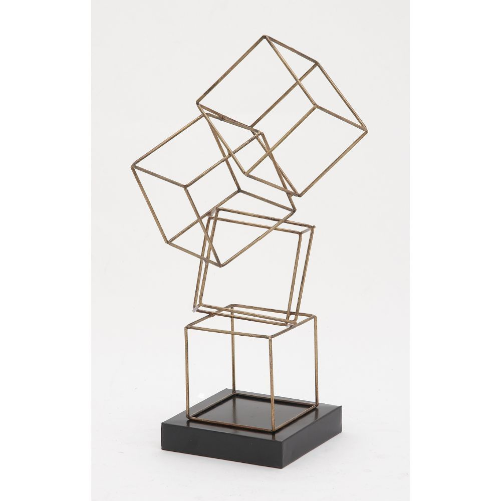 Bring Modern Flair To Your Home Or Business With This Stunning,  Geometrically Inspired Table Sculpture