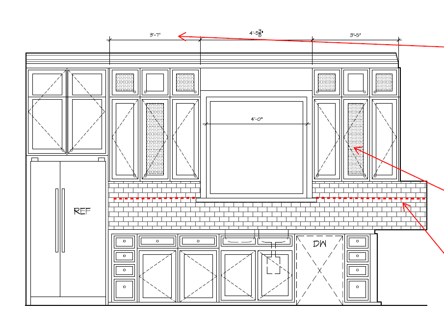 Kitchen Cabinet Elevation West Wall 1707 C Holman Houston Tx This Is An Early Rou Interior Design Classes Drawing House Plans Kitchen Cabinets Elevation