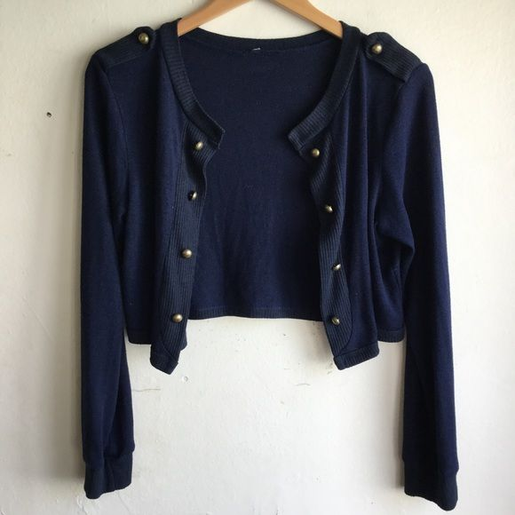 Cropped Cardigan | Navy blue, Conditioning and Navy