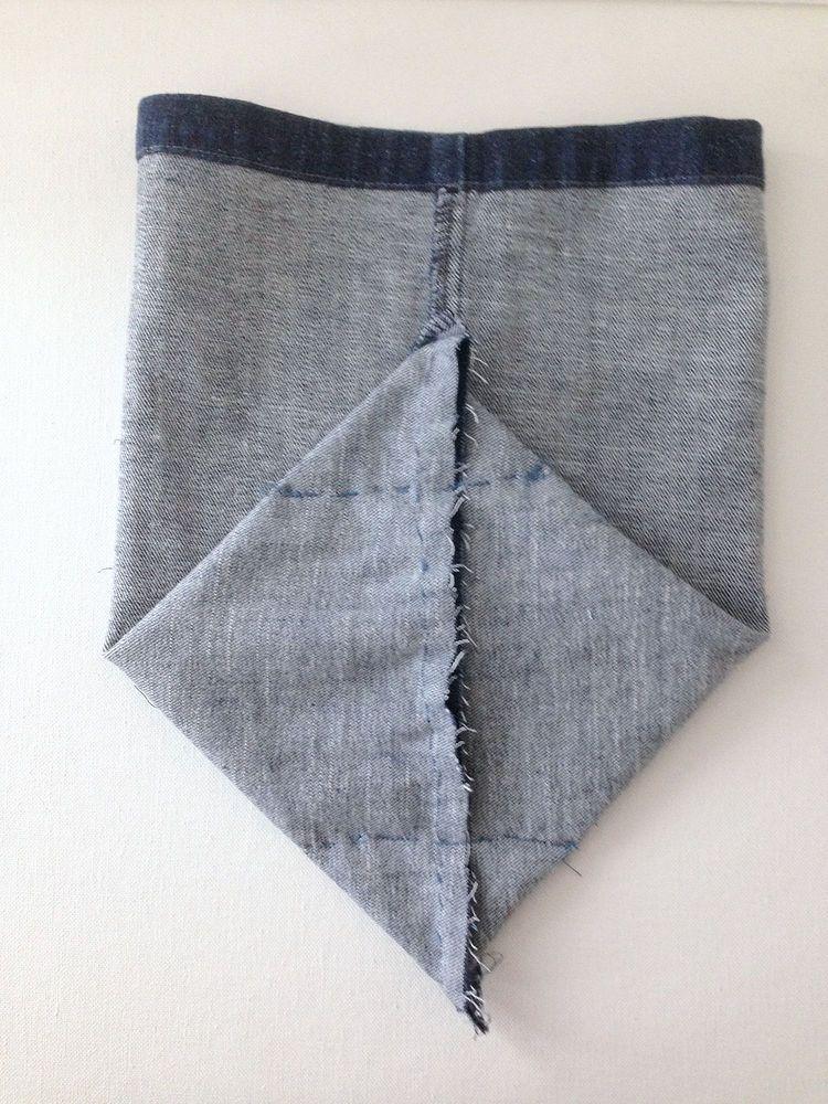 DIY Upcycled Denim Storage Basket | craft | Sewing, Denim