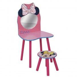 Minnie Mouse Stoel.Disney Minnie Vanity Set In Wood Mickey S World Kids