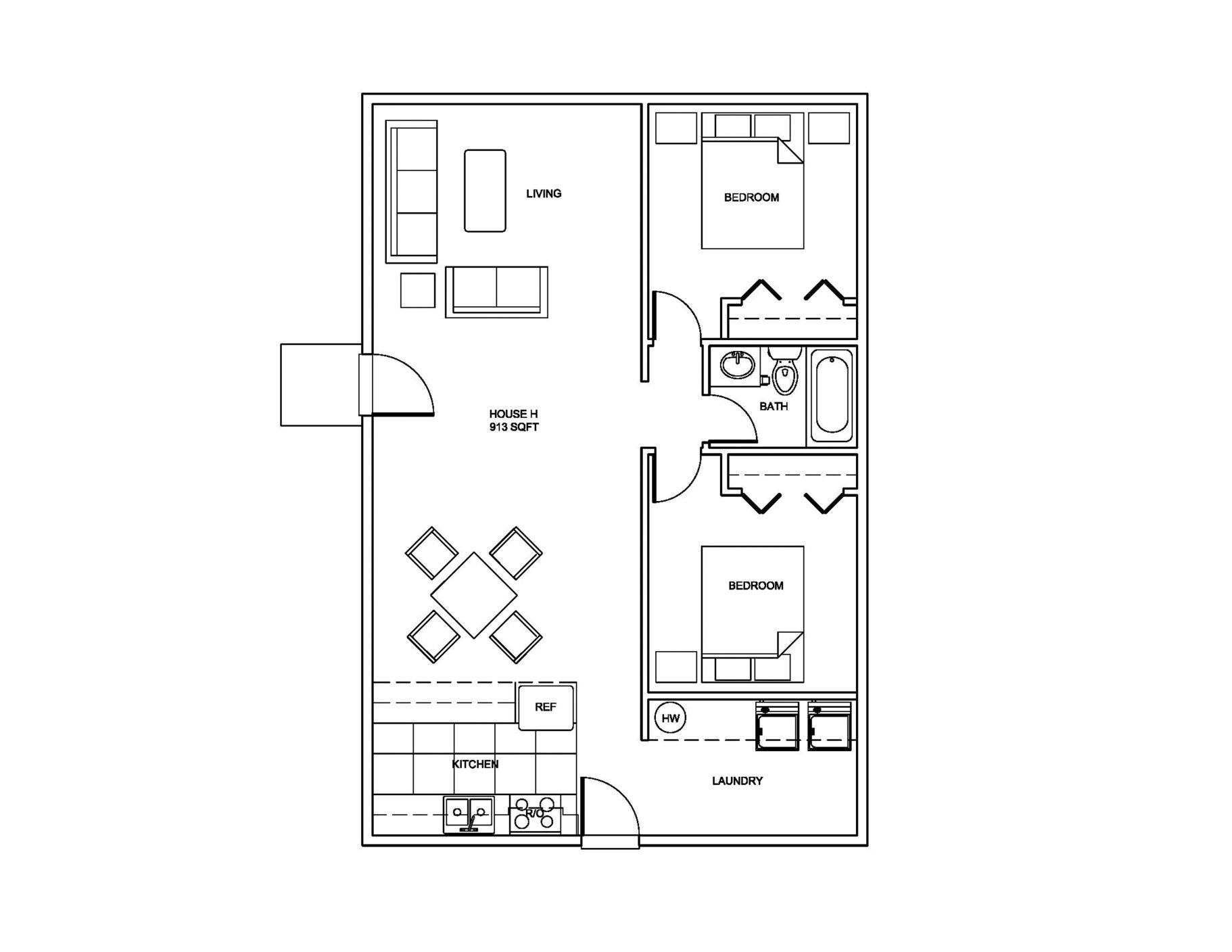 Farm House Small house plans, Small house floor plans
