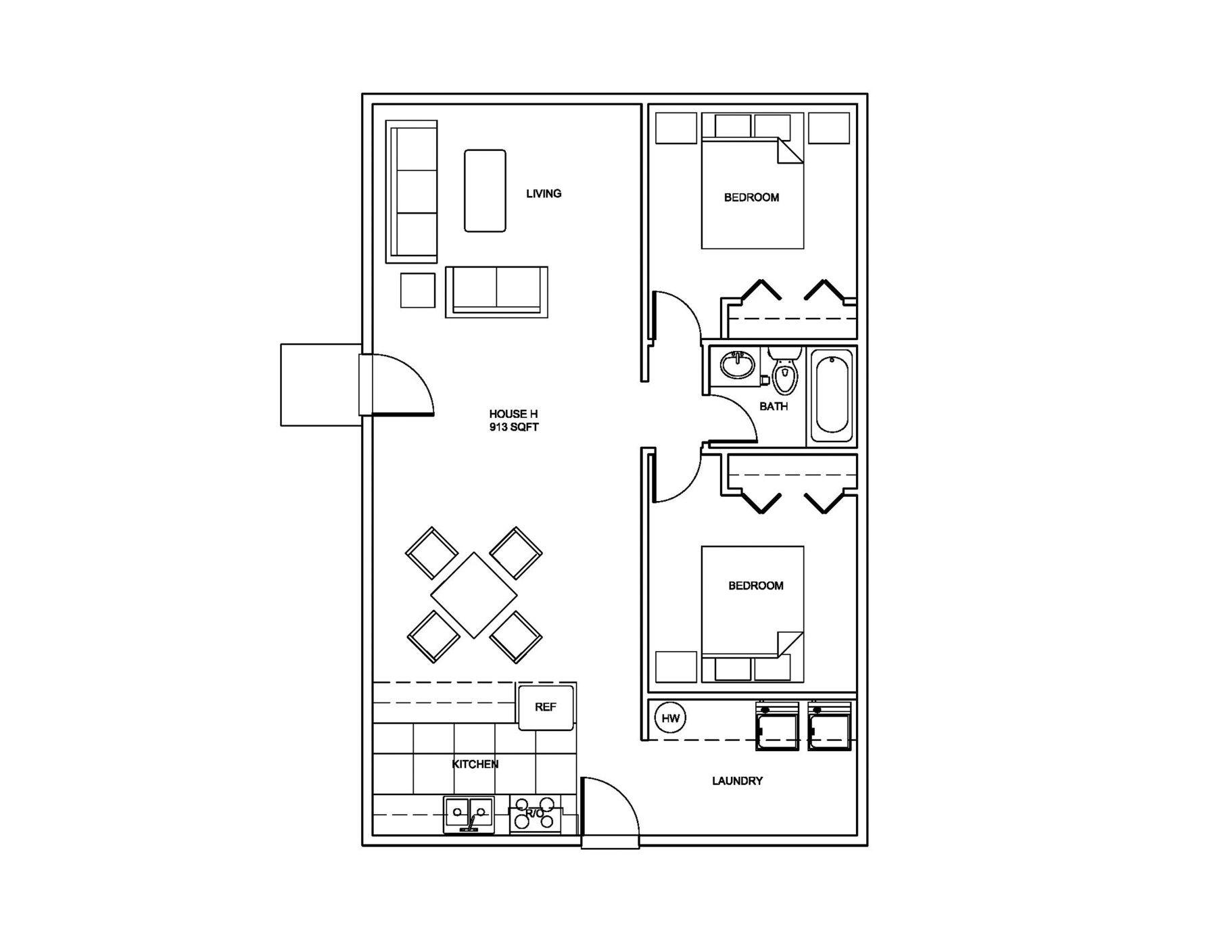 Farm House Small house plans, Small house floor plans