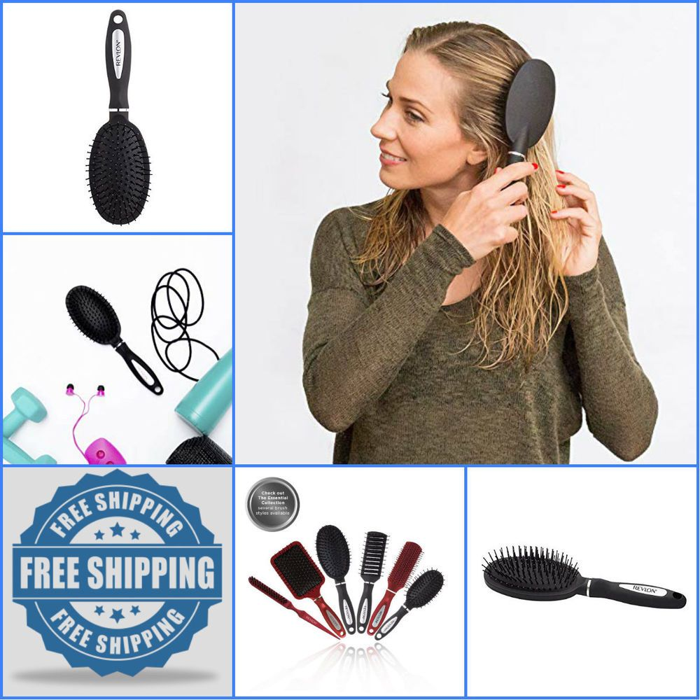 Revlon Detangle & Smooth Black Cushion Hair Brush Revlon