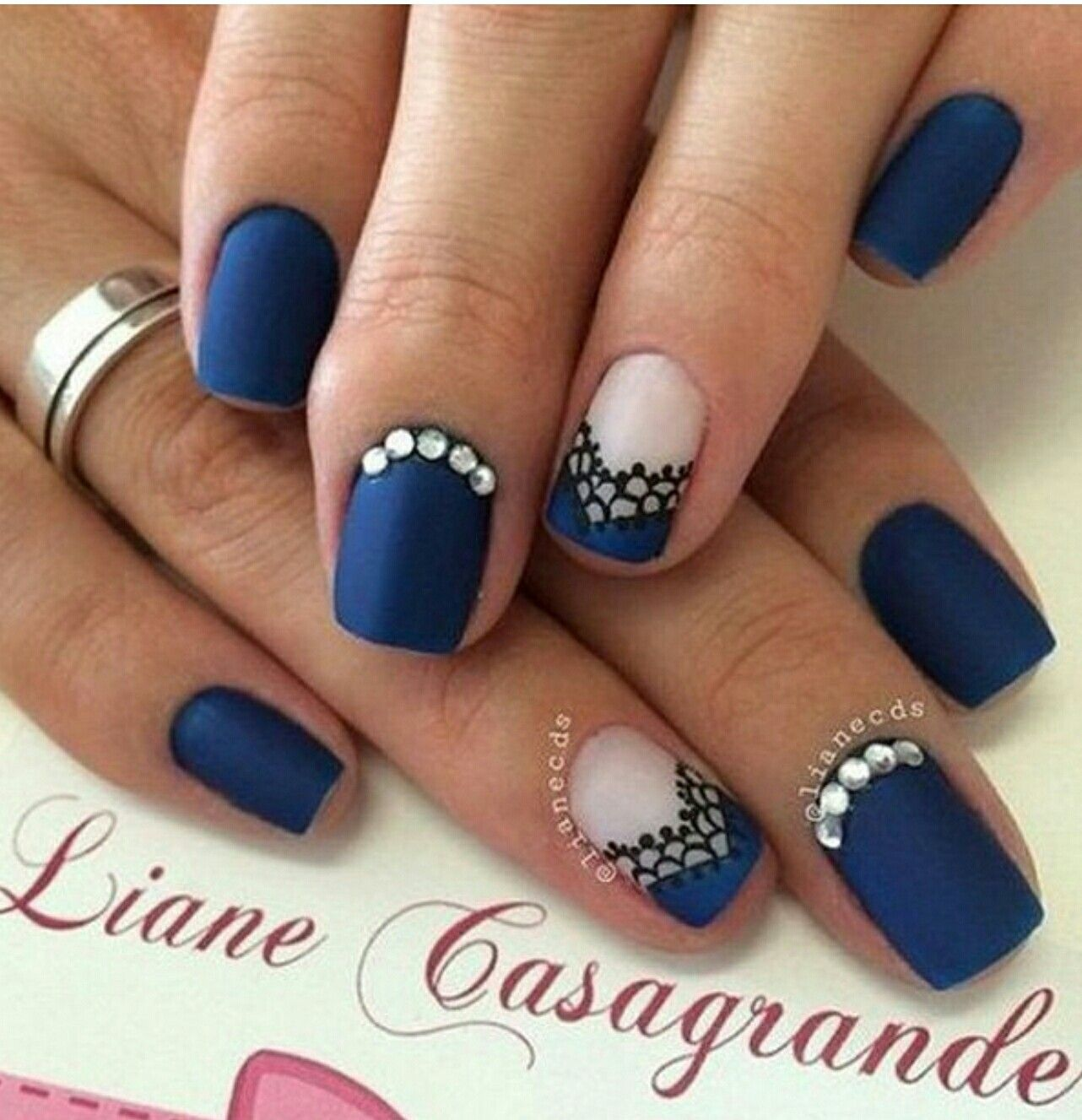 Pin by Courteney Greer on blue nail polish | Pinterest | Crazy nails ...