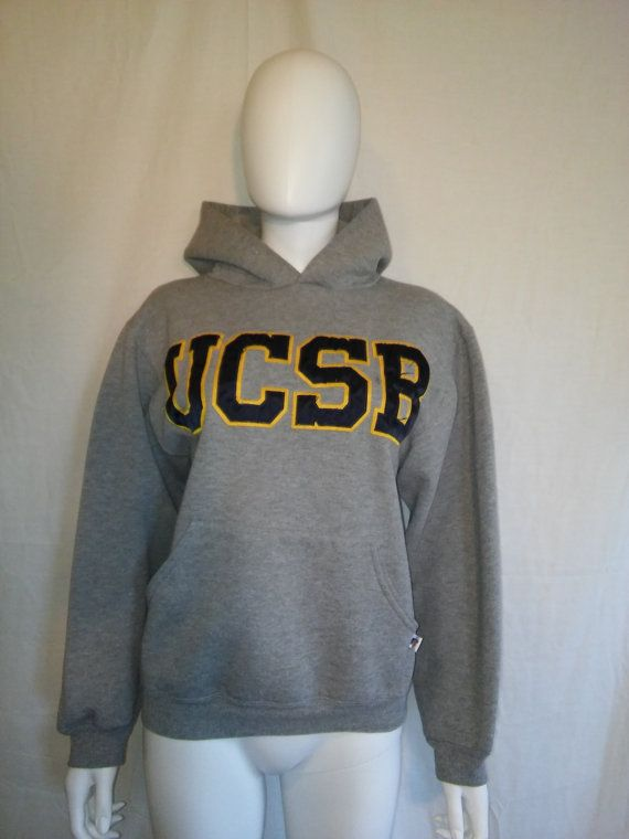 5ec0f4cd4db UCSB Sweatshirt grey gray Sweatshirt college by ATELIERVINTAGESHOP ...