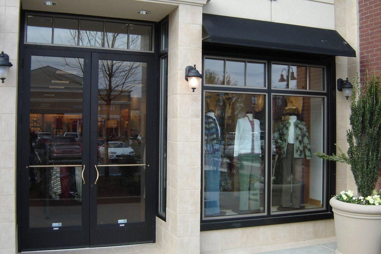 Anodized aluminum entry doors for commercial buildings for Commercial exterior doors
