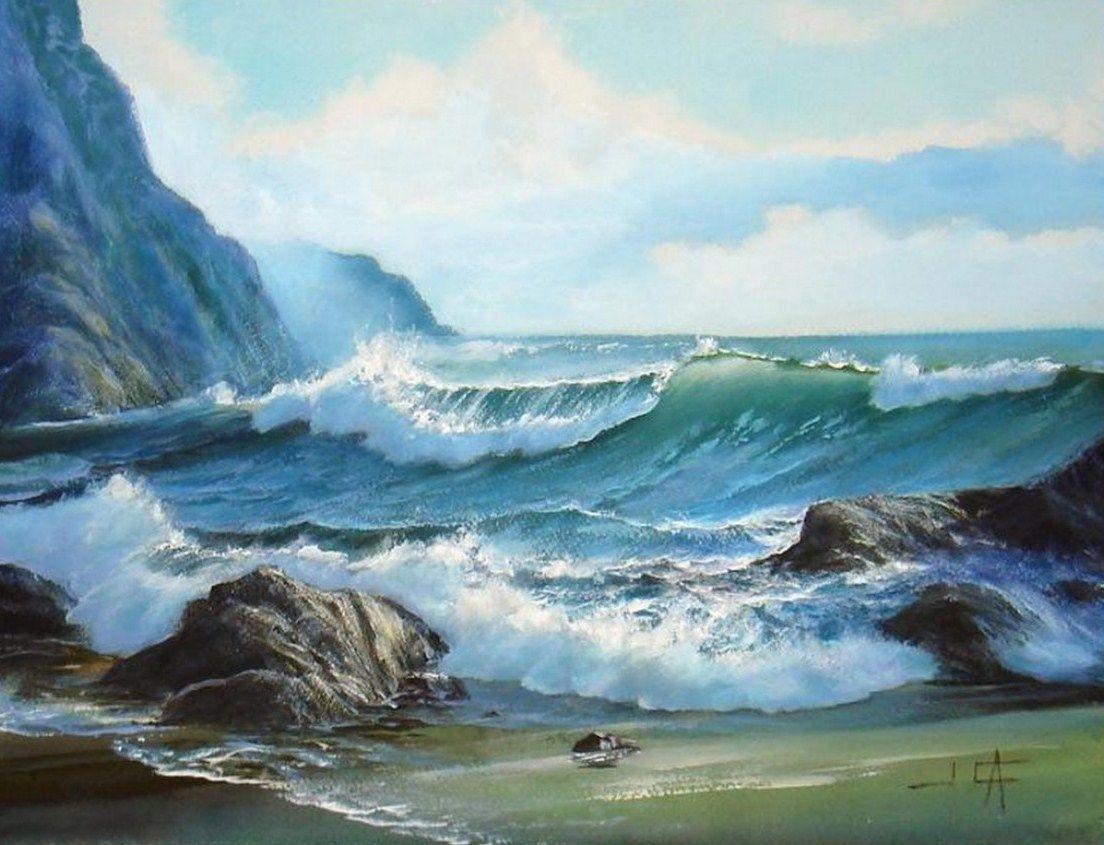 Galer a paisajes marinos con olas paisajes marinos con for Cuadros de marinas