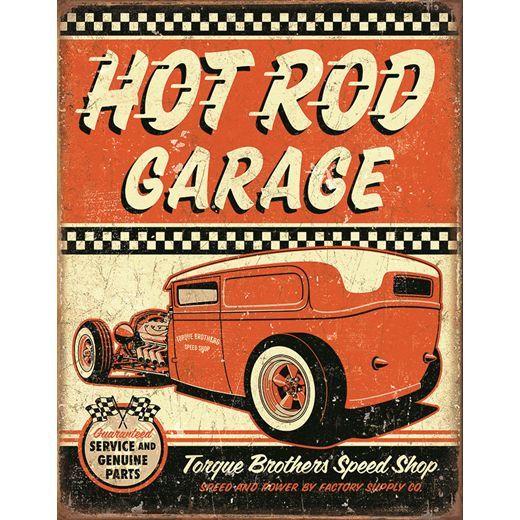 Hot Rods, Tin Signs, Garage