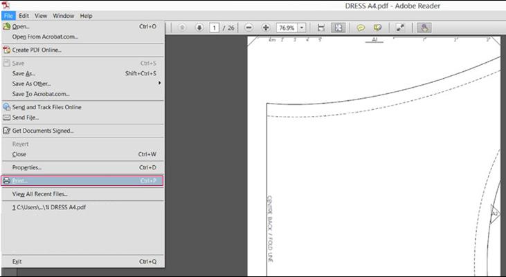 كيفية طباعة أنواع الباترون Pdf يحتوي ملف الباترون الدي قمت ب تنزيله على نموذج Pdf مقسم إلى عدة صفحات بحج Document Sign Pdf Patterns Sewing Lessons