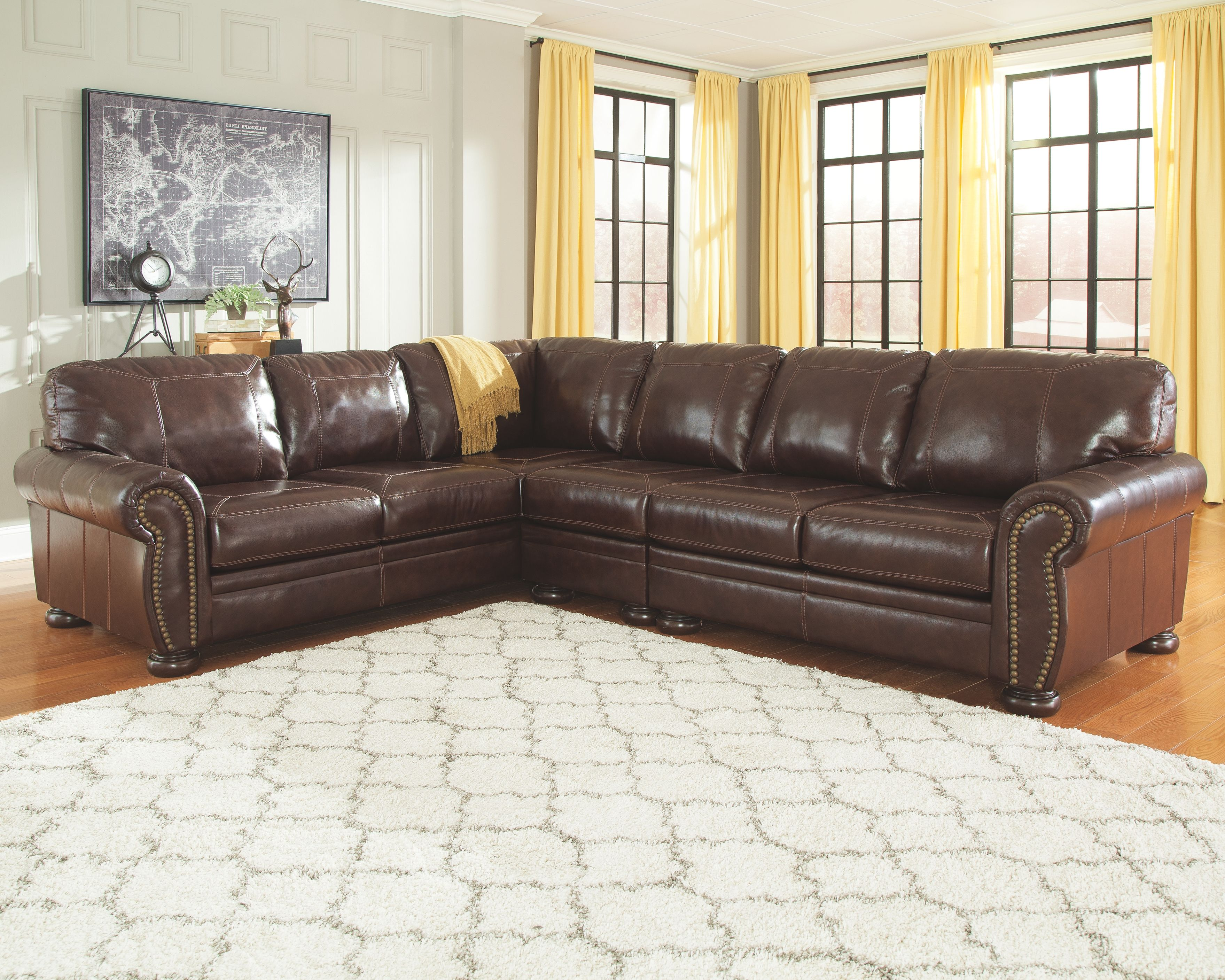 Banner 3 Piece Sectional Products Sectional Sofa Living Room Furniture Living Room Sectional