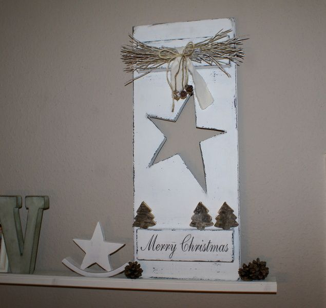 schild merry christmas shabby chic von white living art auf holzdeko pinterest. Black Bedroom Furniture Sets. Home Design Ideas