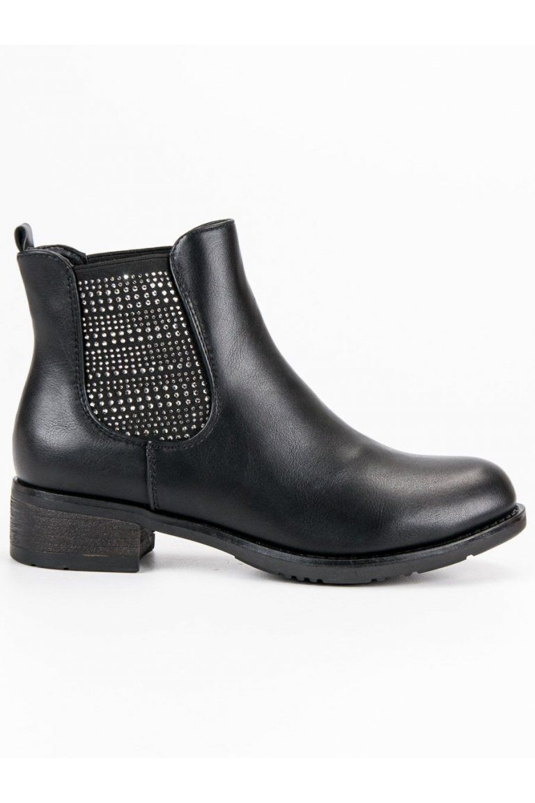 5ab842edd4 Čierne topánky elegantné pérka Kayla