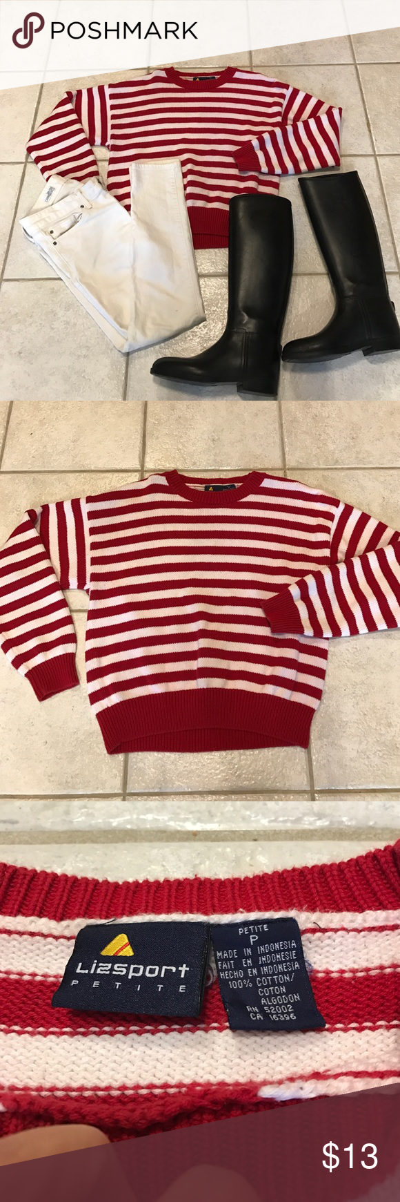 Perfect red and white stripped sweater | D, Striped sweaters and ...