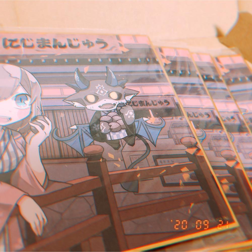 dmmスクラッチ にじさんじ デビるる色紙セット 色紙 アニメのフリマ オタマート