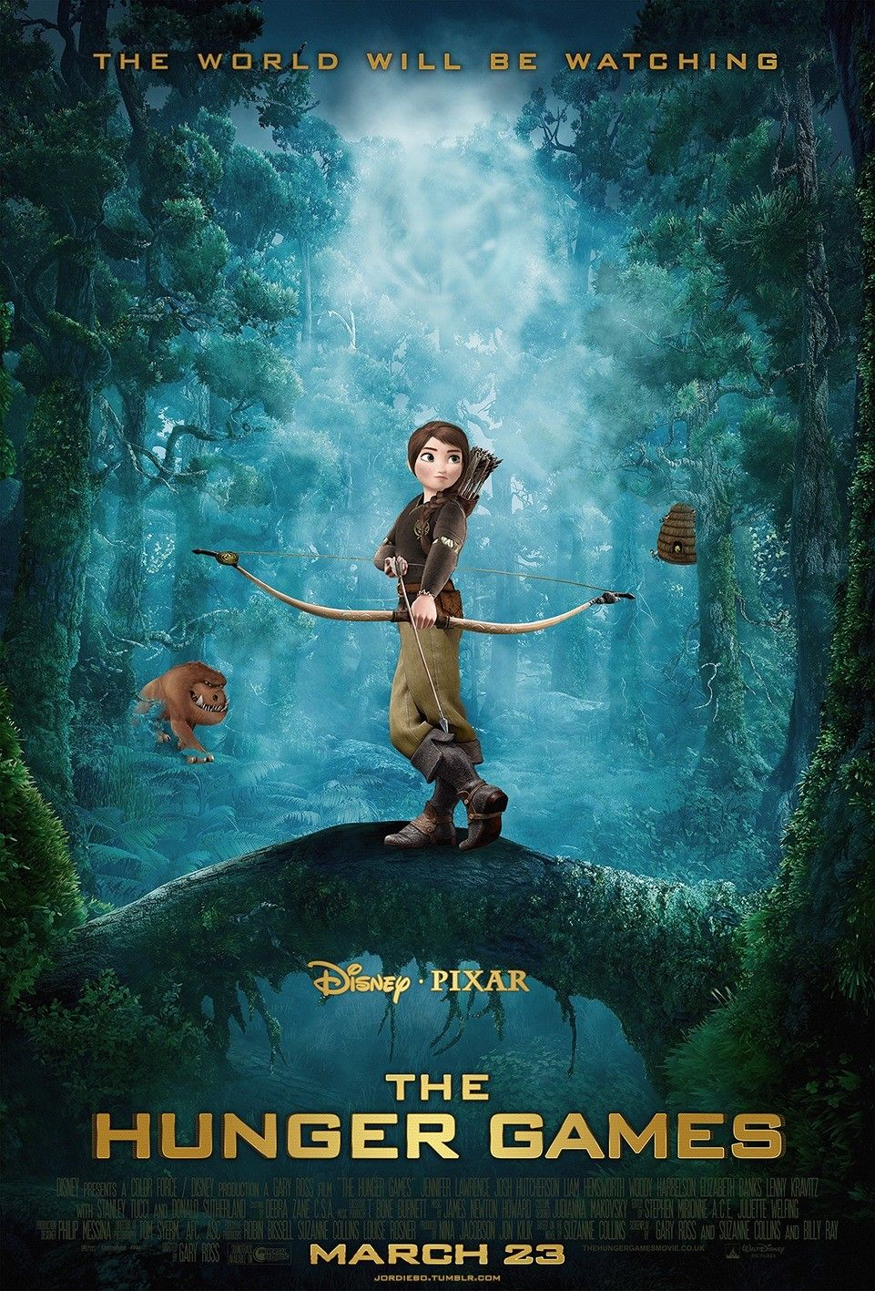 Pixar Style Hunger Games Poster Hunger Games Hunger Games Humor Hunger Games Poster