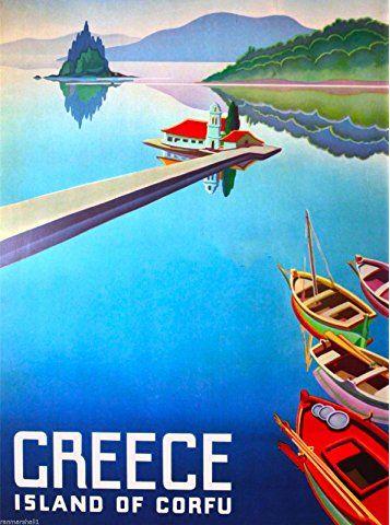 Travel Poster Greece Corfu