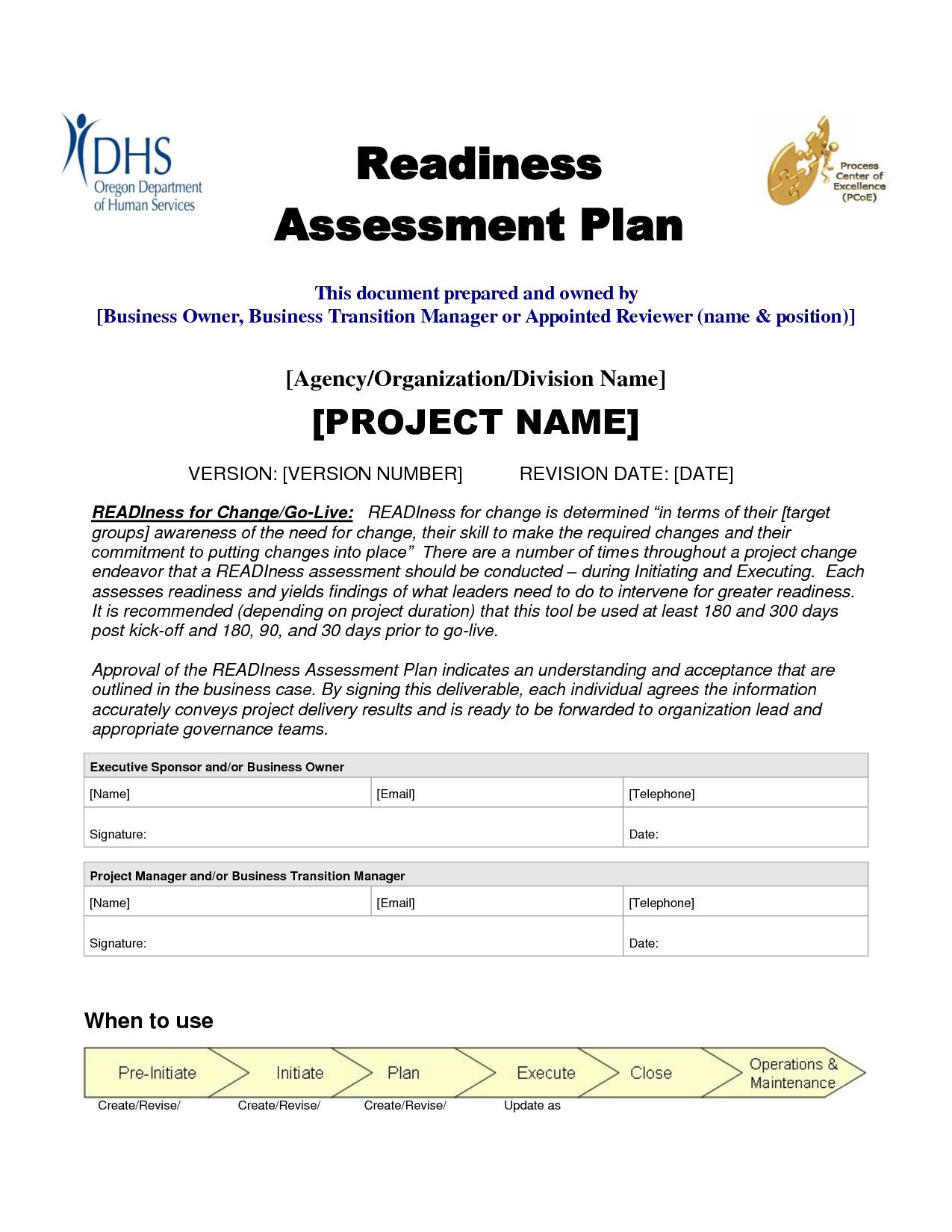 Assessment plan sample assessment plan – Sample Assessment Plan