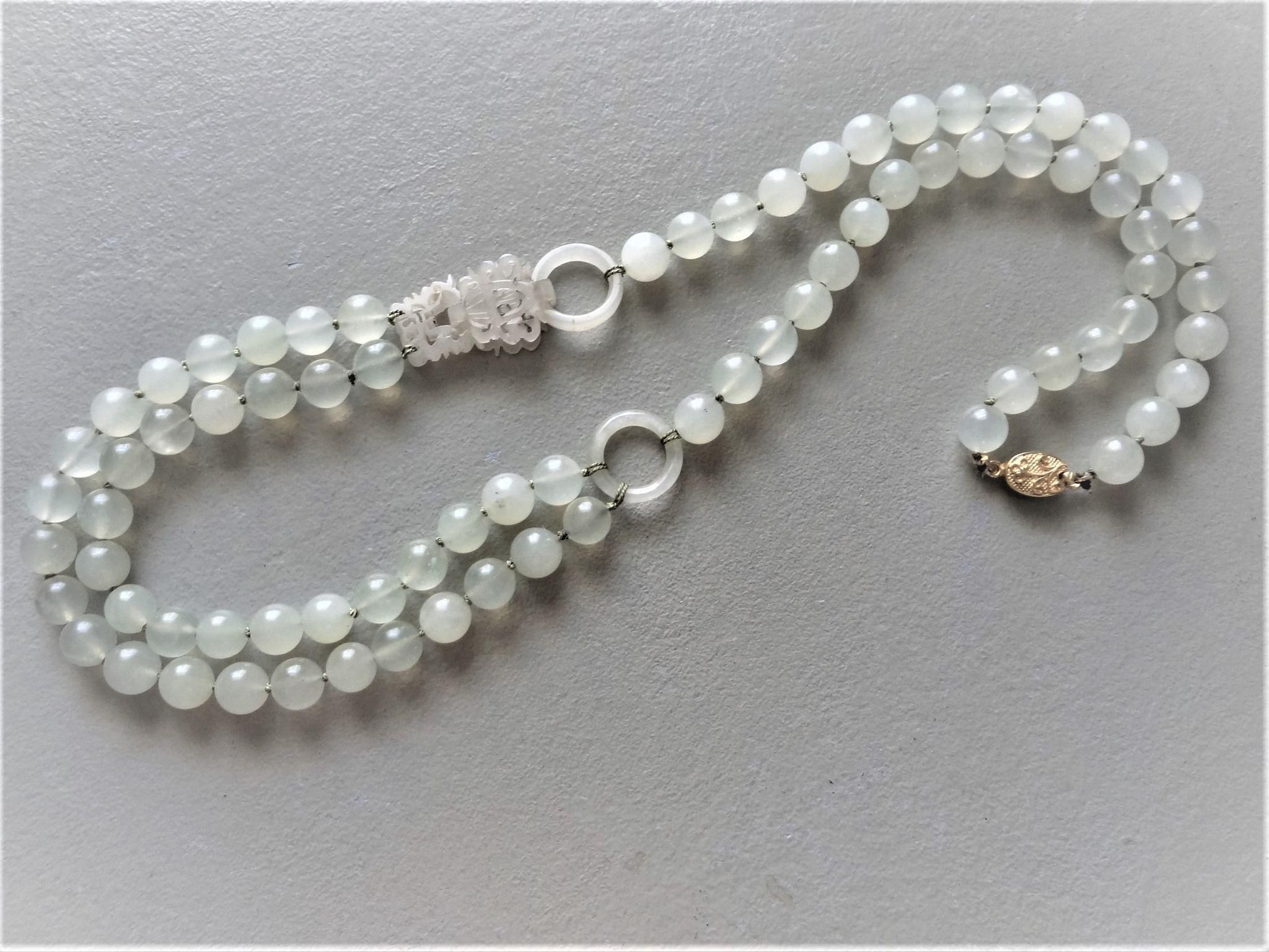 Chinese Exquisite White crystal Handmade beads Necklace