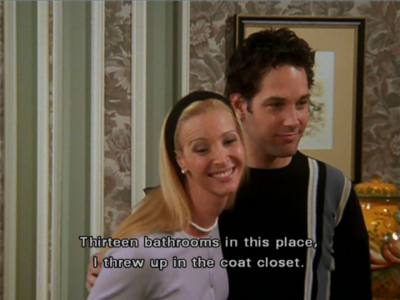 Image result for phoebe i threw up in the coat closet