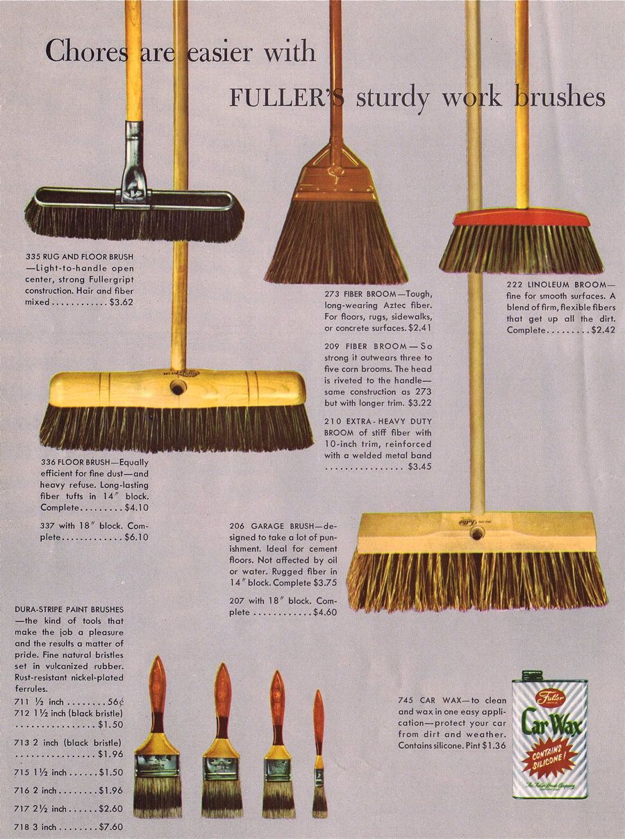 Fuller Brush sturdy wooden Work Brooms and Brushes  Ideal